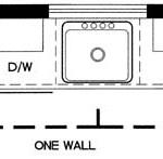 single wall kitchen layout