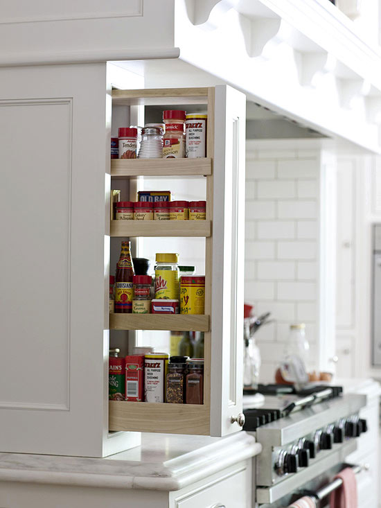 pull-out spice cabinet, kitchen storage