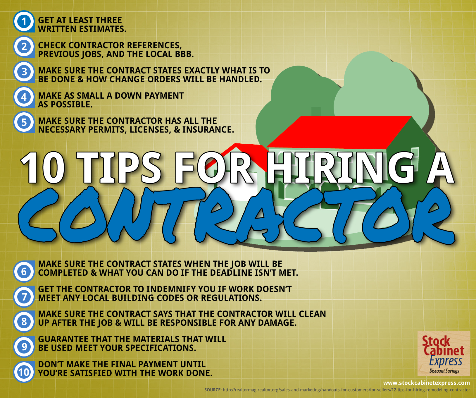 infographic 10 tips for hiring a contractor