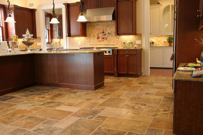 French Pattern Travertine Tile | Photo Source: fudatile.com