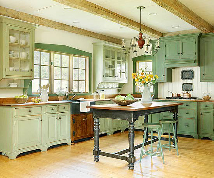 Create your own farmhouse kitchen - Farmhouse style kitchen cabinets ...