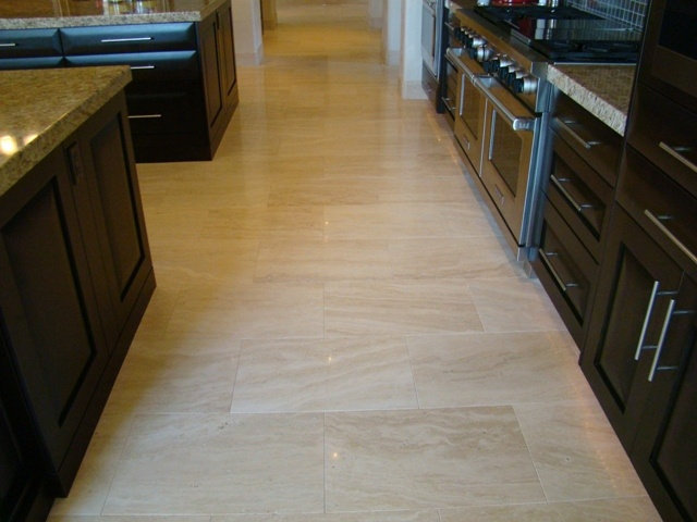 Polished Travertine Stone Has A Smooth Shiny Reflective Surface