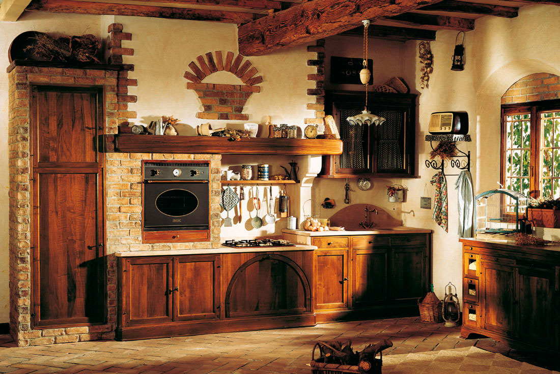 10 design tips for a rustic kitchen for Rustic wallpaper ideas