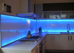 led lighted backsplash