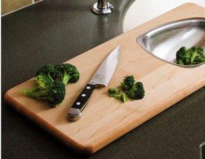 Strainer Cutting Board