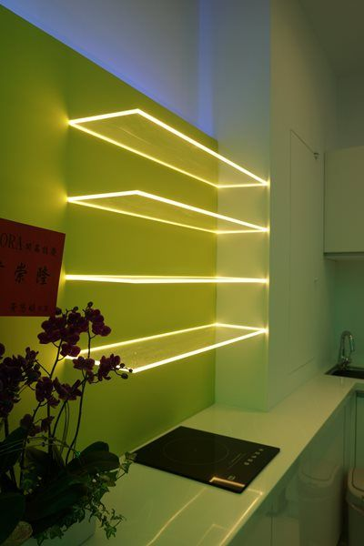 8 bright accent light ideas for your kitchen for Lighting element interior design