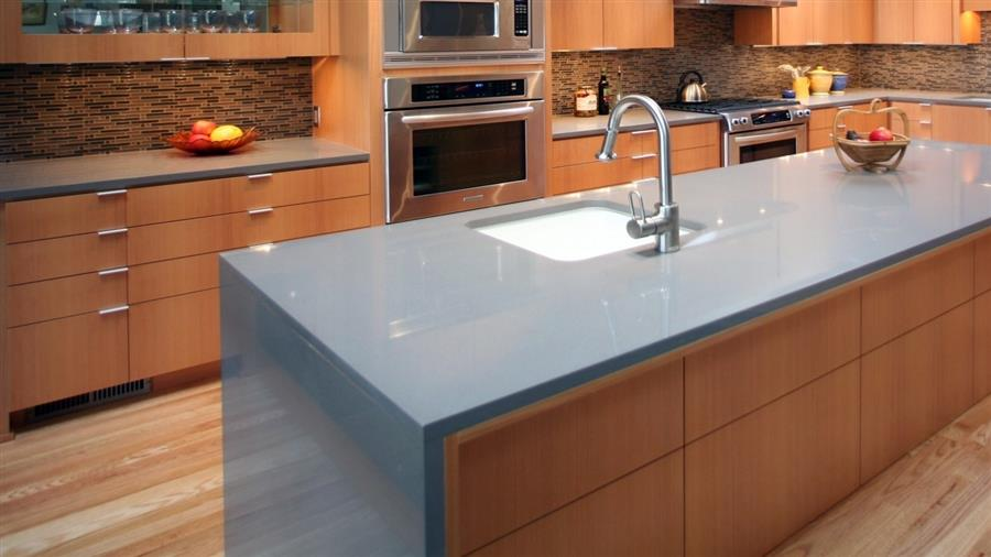 Waterfall Edge Countertop: Why It Belongs In Your Kitchen! | on kitchen sinks, kitchen remodeling, kitchen backsplash, kitchen tile, kitchen windows, kitchen floors, kitchen cabinets, kitchen cooktops, kitchen displays, kitchen work, kitchen remodel, kitchen cabnets, kitchen counter, kitchen accessories, kitchen renovations, kitchen chairs, kitchen peninsula, kitchen contractors, kitchen islands, kitchen backsplashes,