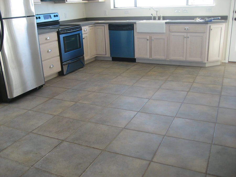 Kitchen With Ceramic Flooring Photo Source