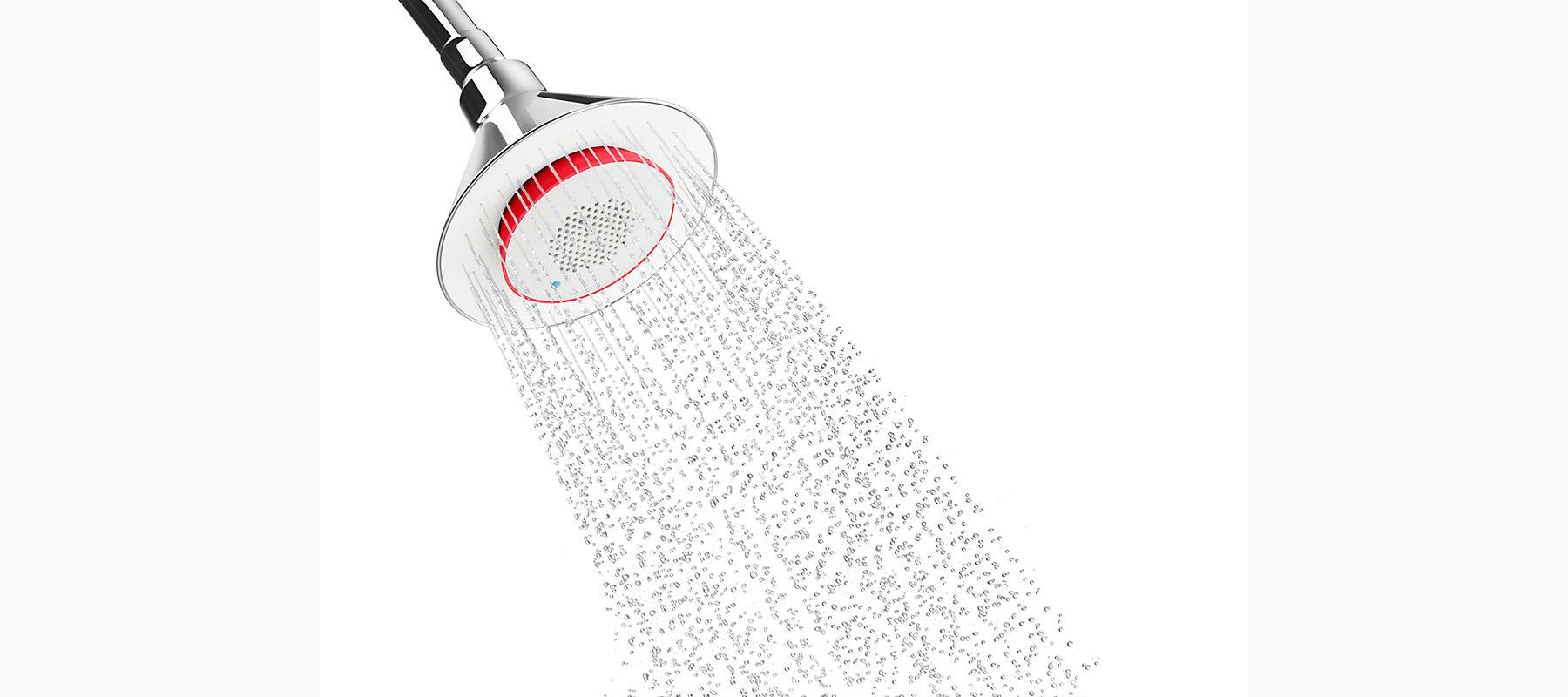 Kohler's Moxie® Single-Function Showerhead with Wireless Speaker | Photo Source: Kohler