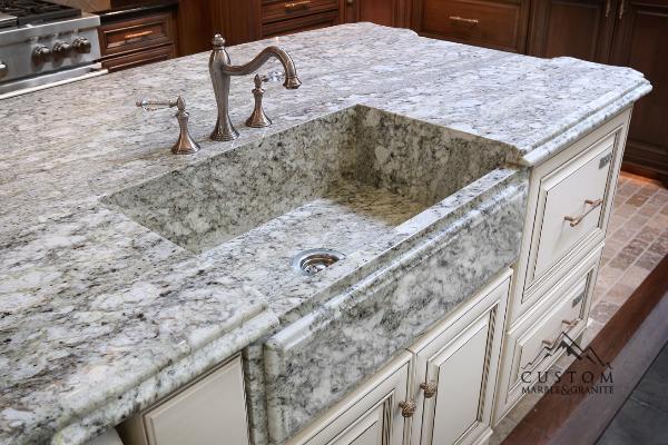 Integrated Granite Farmhouse Sink.