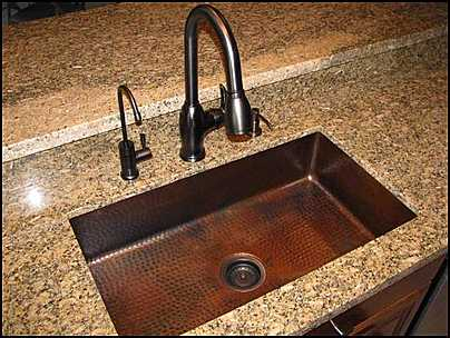 Textured Single Bowl Copper Sink. | Photo Source: Canton Antiques