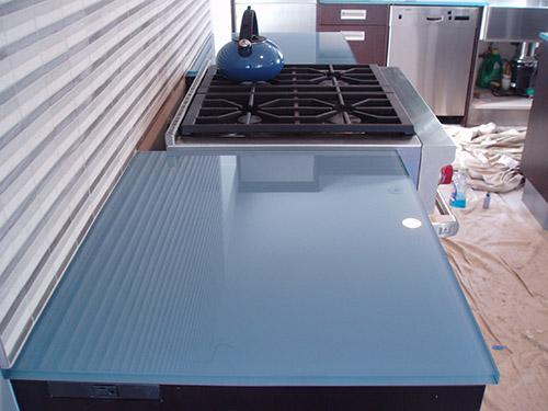 Custom Glass Kitchen Countertops