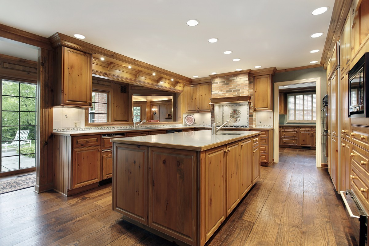 Design In Wood What To Do With Oak Cabinets: 5 Budget-Friendly Alternatives To Hardwood Flooring