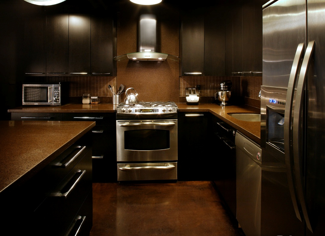 Delightful Kitchen Ideas With Stainless Steel Appliances Part - 3: Modern Kitchen With Stainless Steel Appliances And Hardware |Photo Source:  Ampil.org