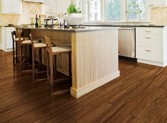 High Quality Dark, Bamboo Flooring. | Photo Source: Flooringmagz