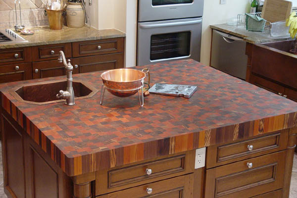 End Grain Butcher Block Kitchen Island : How To Choose A Wood Countertop For Your Kitchen
