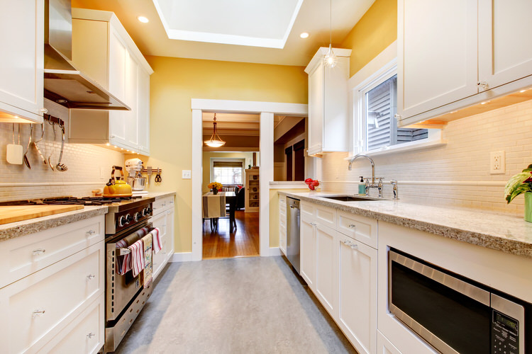White Shaker Cabinets Galley Kitchen what you need to know when designing a galley kitchen |
