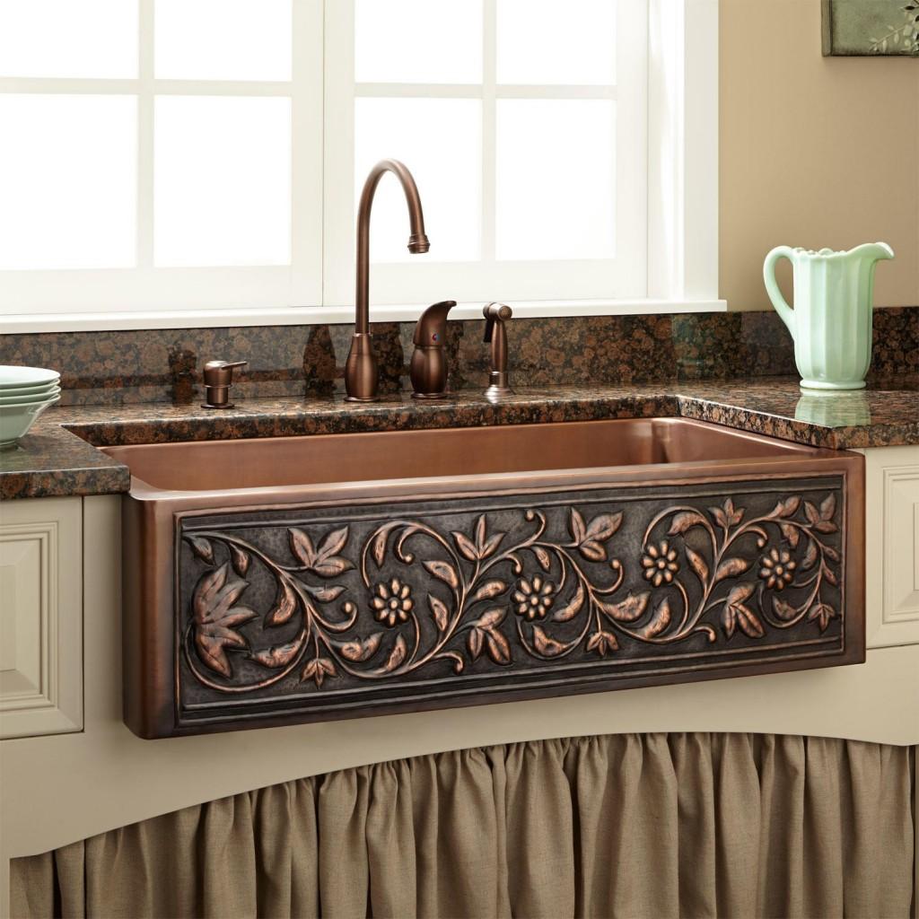 Copper Kitchen Sink Farmhouse