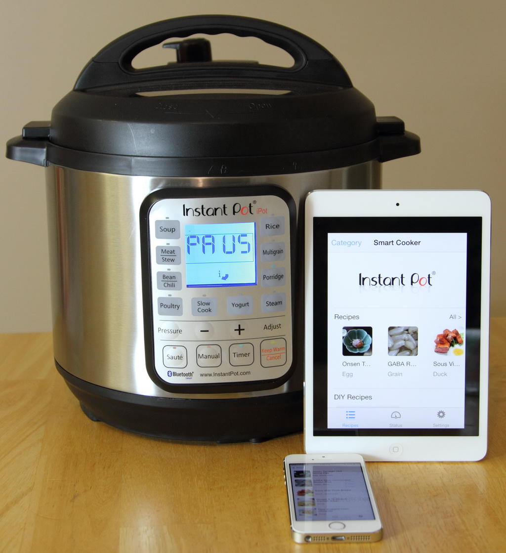 Instant Pot Smartcooker allows users to control cooking via a smartphone or tablet.