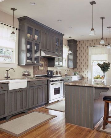 Design Ideas For Gray Kitchen Cabinets - Red and grey kitchen cabinets