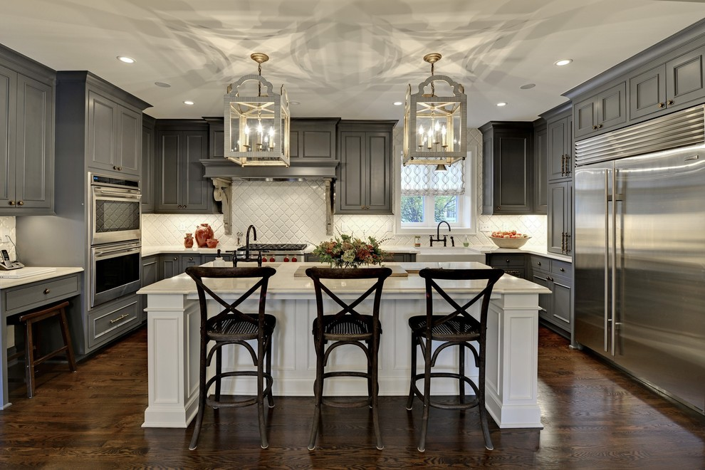 Design Ideas For Gray Kitchen Cabinets - Traditional grey kitchen cabinets