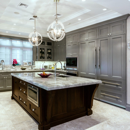 Grey Kitchen Cabinets With Black Appliances: 6 Design Ideas For Gray Kitchen Cabinets