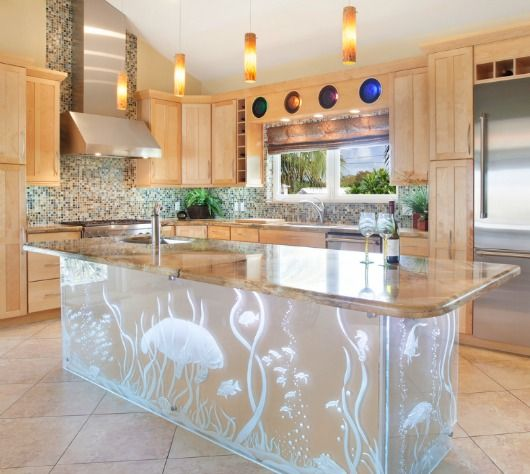 How to design a coastal kitchen for Tiffany blue kitchen ideas