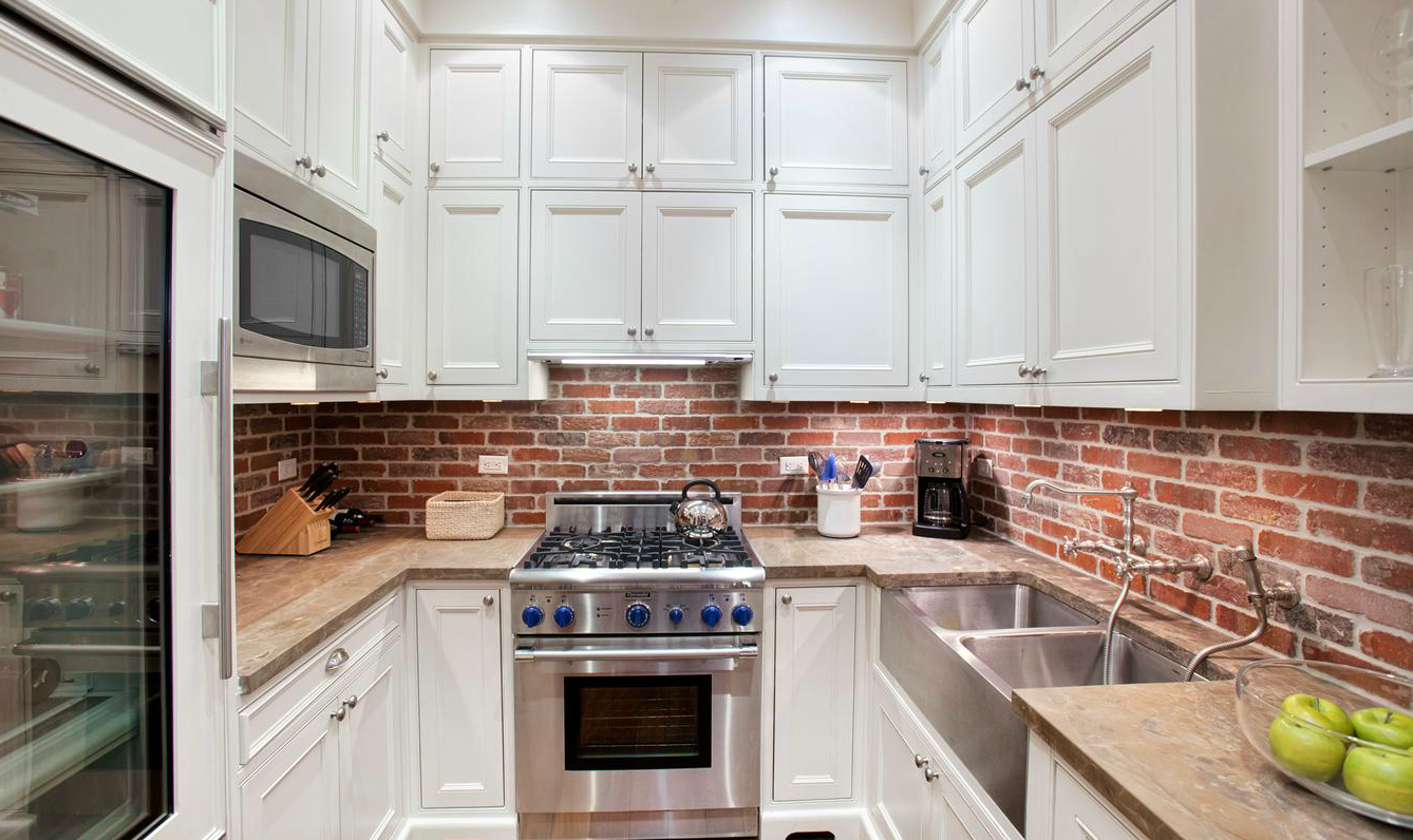 Kitchen Backsplash Bold Bricks