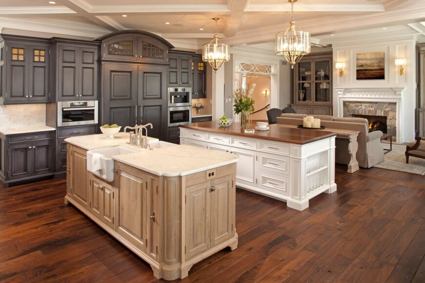 White Wood Kitchen Cupboards Distressed