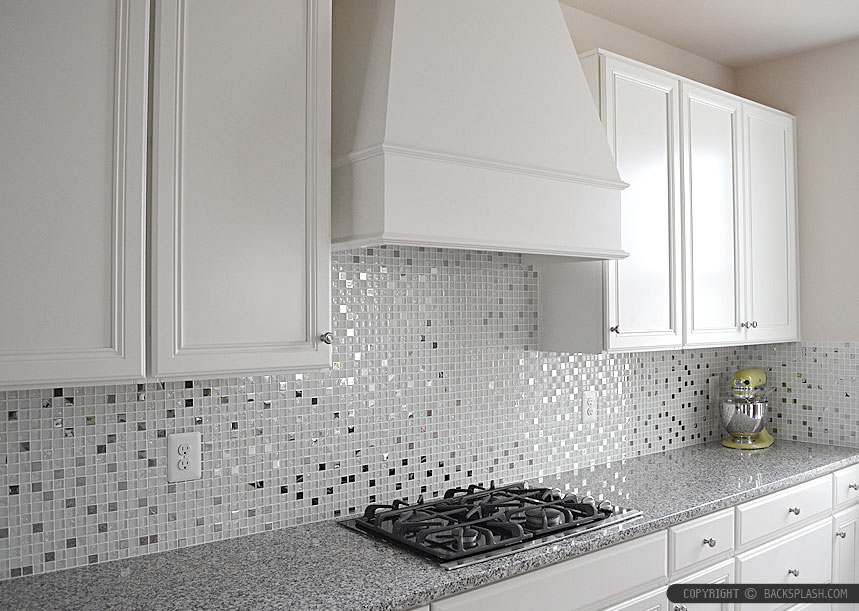 White Kitchen With Green Tile Backsplash