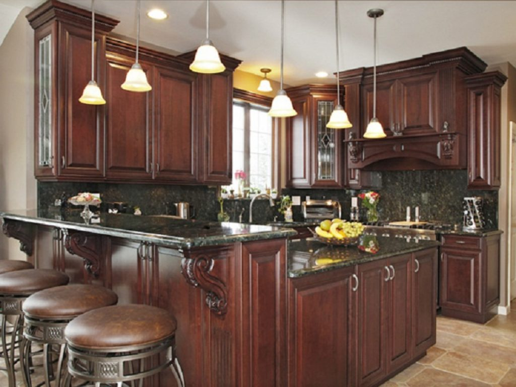 How to create the perfect traditional kitchen for Dark wood cabinets small kitchen
