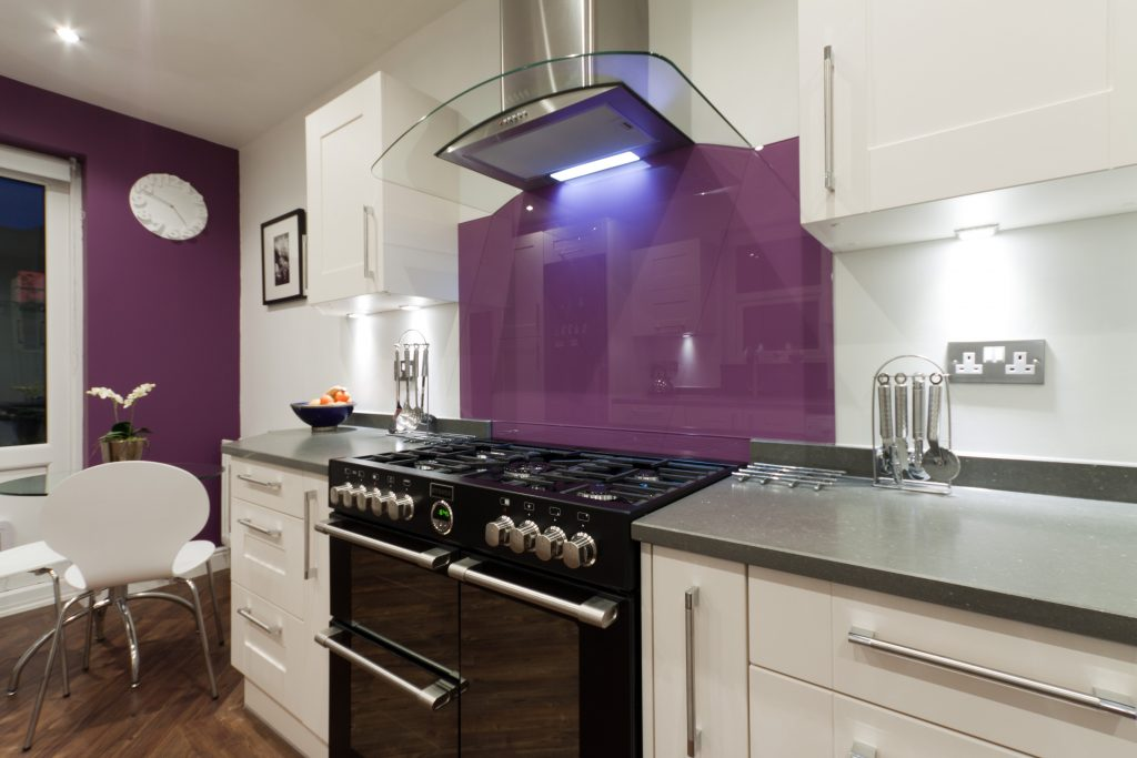 Aubergine Wall Tiles Kitchen