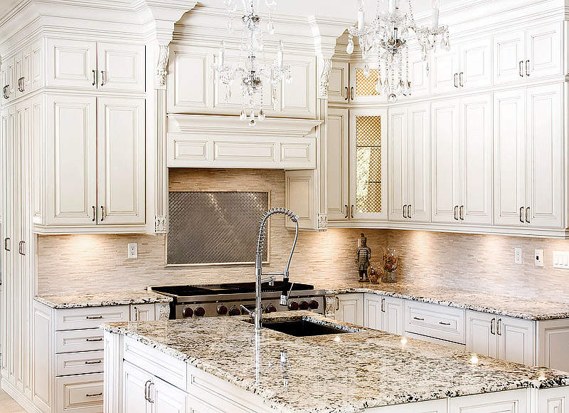 Ornate White Traditional Kitchen