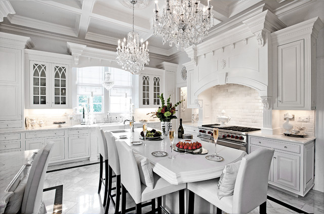 How to design a traditional kitchen with white kitchen - Traditional kitchen design images ...