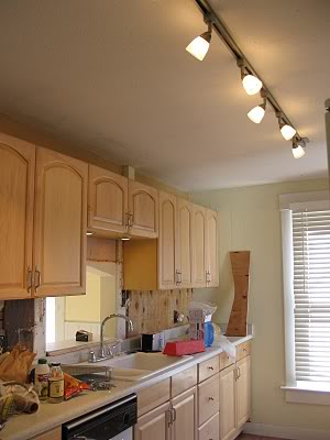Single Row Track Lights In Kitchen