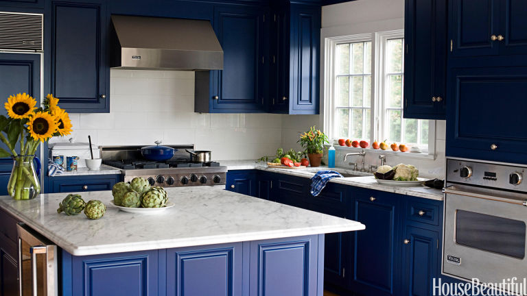 Blue Kitchens? Yes These Are Trending This Season