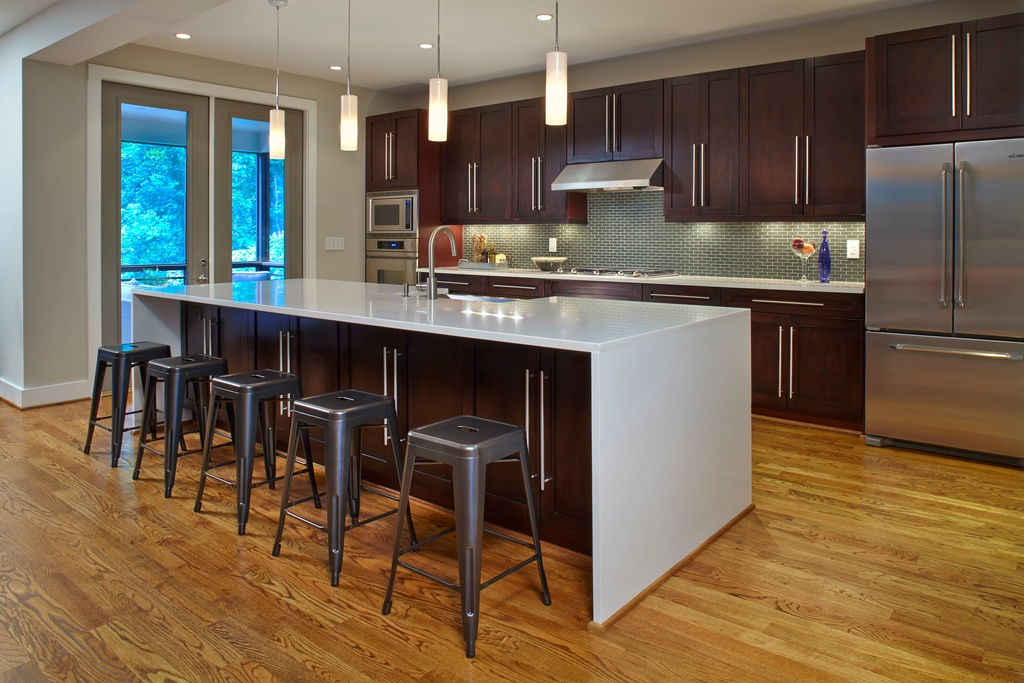 Photo Source Epic Development This Simple Waterfall Edge Countertop