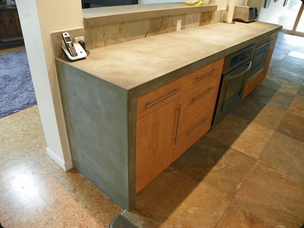 Concrete Countertop With Waterfall Edge Photo Source Pete