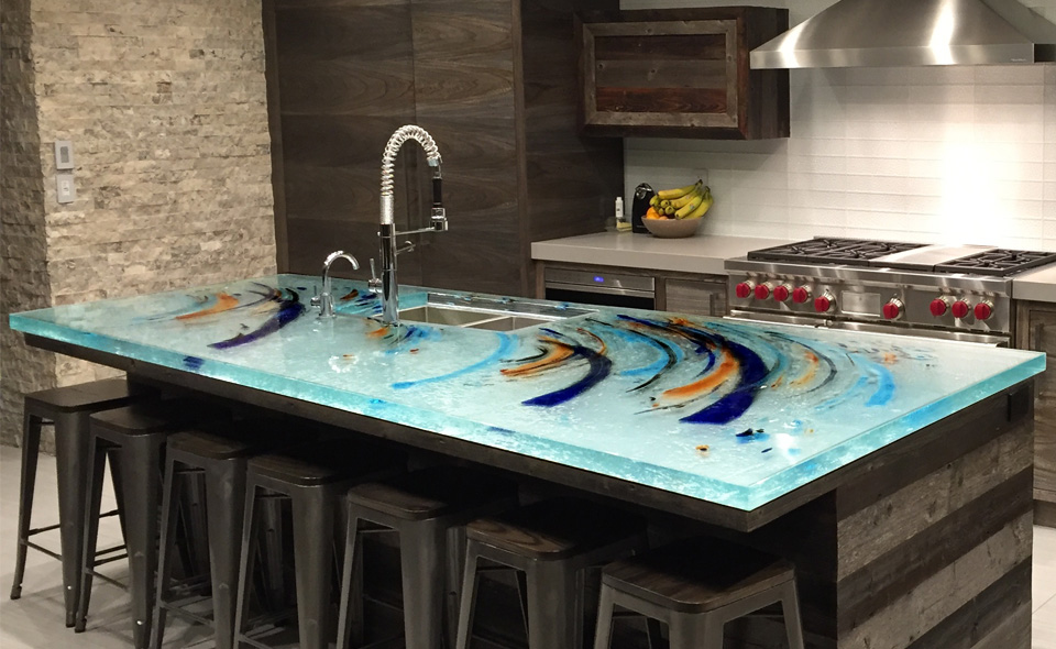 Glart By Mailhot Painted Gl Countertop Photo Source Thinkgl