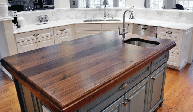 wood island tops kitchens how to choose a wood countertop for your kitchen 22759