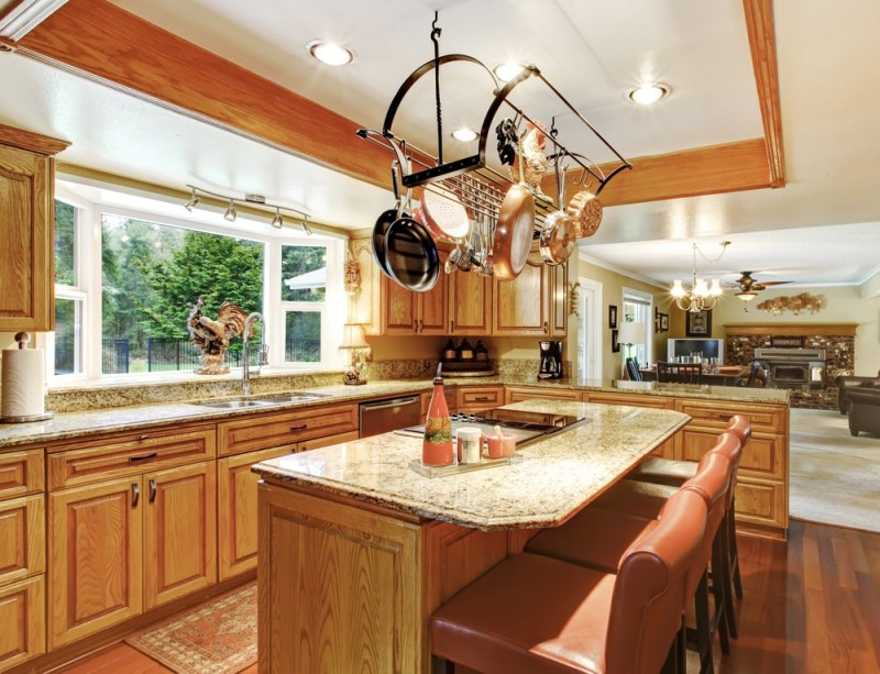 kitchen design pot rack 5 convenient kitchen island ideas 471