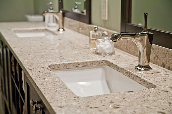Solid Surface Countertop With Undermount Sink