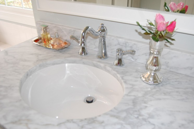 White Cultured Marble Carrera Bathroom Vanity Tops Include Countertop With Undermount Sink