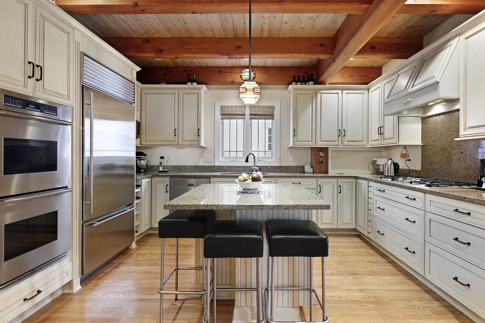 Cozy White Wood Kitchen