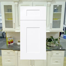 ice white shaker kitchen cabinets stockcabinetexpress