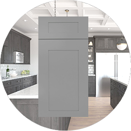 Lait Grey Shaker kitchen cabinets stockcabinetexpress