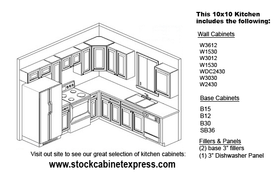 10x10 kitchen 10x10 kitchen configuration    stock cabinet express  rh   stockcabinetexpress com