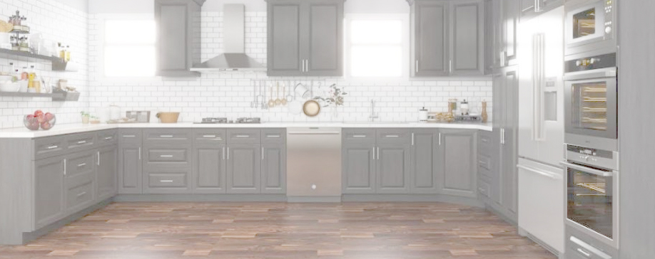 Lait Grey Shaker Kitchen Cabinets Stock Cabinet Express