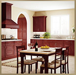 kitchen cabinets, cherry glaze